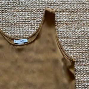 Vintage 90's golden tan silk camisole 3102